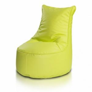 Ecopuf Detský MINI sedací vak ECOPUF - SEAT S - ekokoža E16 - Svetlo zelená