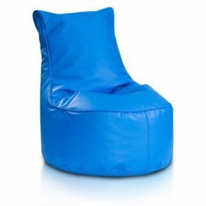 Ecopuf Detský MINI sedací vak ECOPUF - SEAT S - ekokoža E19 - Svetlo modrá