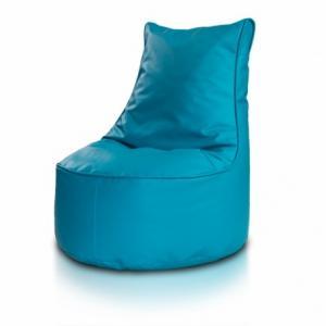 Ecopuf Detský MINI sedací vak ECOPUF - SEAT S - ekokoža E20 - Tyrkysová
