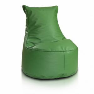 Ecopuf Detský MINI sedací vak ECOPUF - SEAT S - ekokoža E9 - Zelená