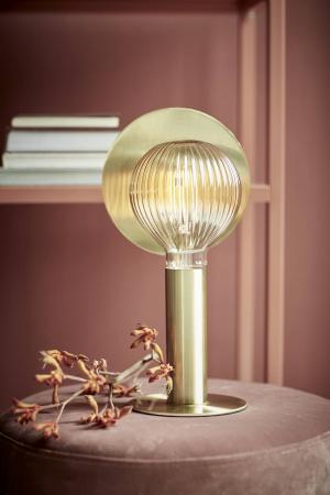 DEAN DISC   dizajnová stolná lampa Farba: Mosadz