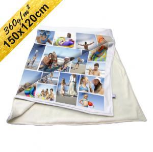 Deka Klasik s neobmedzeným počtom fotografií, textov, farieb 360g/m² 150x120 cm