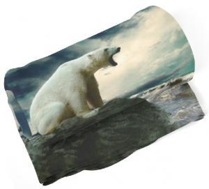 Deka Ľadový medveď  (Rozmer: 150 x 120 cm)