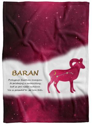 Deka Znamenie Baran (21.3. - 20.4.) - červená
