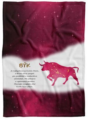 Deka Znamenie Býk (21.4. - 21.5.) - červená