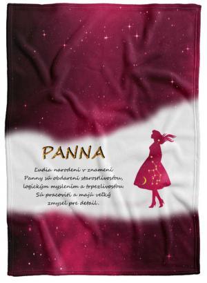 Deka Znamenie Panna (23.8. - 22.9.) - červená