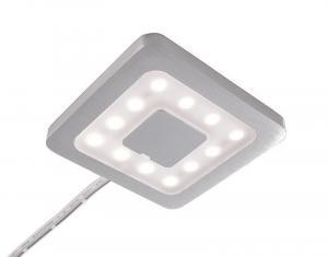 Deko-Light nábytkové přisazené svítidlo Paty hranaté 12V DC 2,50 W 3000 K 160 lm 50 stříbrná 687127