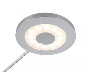 Deko-Light nábytkové přisazené svítidlo Paty kulaté 12V DC 2,50 W 3000 K 185 lm stříbrnášedá RAL 7001 687126