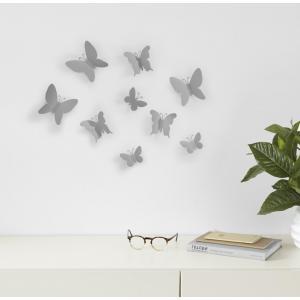 Dekorace na zeď Umbra Mariposa | šedá