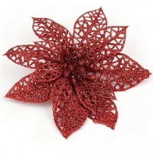 Dekorácie vianočné hviezda 10 ks Farba: červená