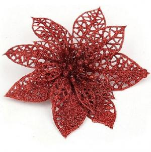 Dekorácie vianočné hviezda 10 ks Farba: zlatá