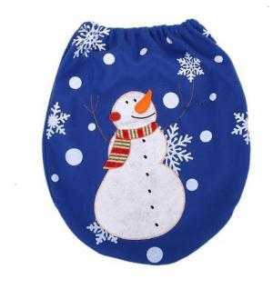 Dekoračná vianočná pokrývka na toaletu - 11 variantov Varianta: 6