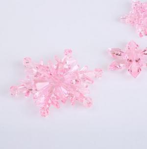 Dekoračné snehové vločky 10 ks Farba: ružová, Veľkosť: L