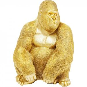 Dekoratívna figúrka Gorilla Side XL - zlatá