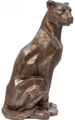 Dekoratívna figúrka Sitting Cat Rivet Copper