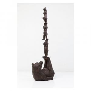 Dekoratívna socha Kare Design Artistic Bears Balance, 121 cm