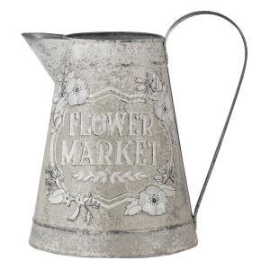 Dekoratívne béžový džbán Flower market s patinou - 17 * 17 * 23 cm
