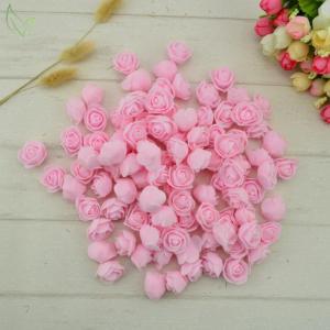 Dekoratívne penové ružičky 100 kusov - 14 farieb Farba: fuchsia