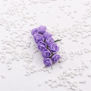 Dekoratívne penové ružičky 12 kusov - 10 farieb Farba: fialová