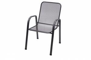 DEOKORK Kovová stolička Sága nízká