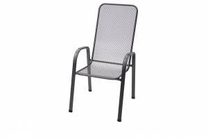 DEOKORK Kovová stolička Sága vysoká