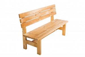DEOKORK Masívna drevená záhradna lavice TEA 04  hrúbka 38 mm