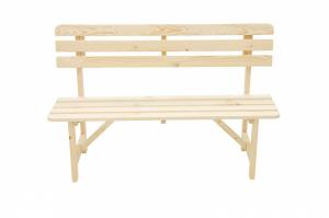 DEOKORK Masívna drevená záhradná lavice z borovice drevo 22 mm