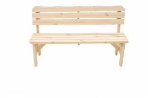 DEOKORK Masívna drevená záhradná lavice z borovice drevo 32 mm (150 cm)