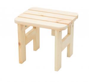 DEOKORK Masívna drevená záhradná stolička z borovice drevo 32 mm