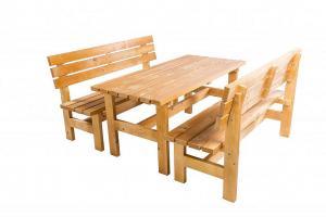 DEOKORK Masívna drevená záhradná zostava TEA 1+2 drevo 38 mm