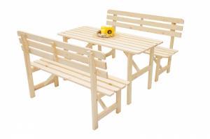 DEOKORK Masívna drevená záhradná zostava z borovice 1+2 drevo 22 mm