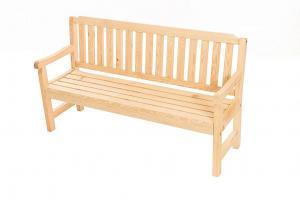 DEOKORK Masívne záhradné lavice z borovice LONDON (32 mm) - rôzne dĺžky 150 cm