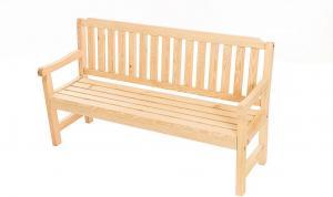 DEOKORK Masívne záhradné lavice z borovice LONDON (32 mm) - rôzne dĺžky 180 cm