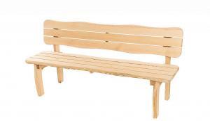 DEOKORK Masívne záhradné lavice z borovice VIKING (40 mm) - rôzne dĺžky 200 cm