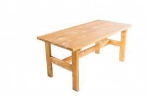 DEOKORK Masívny drevený záhradný stôl TEA 02 hrúbka 38 mm