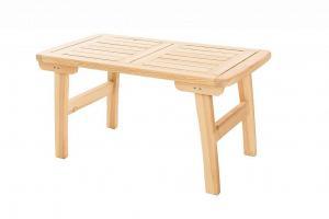 DEOKORK Masívny záhradný stôl z borovice ROMANTIC (32 mm) - rôzne dĺžky 150 cm
