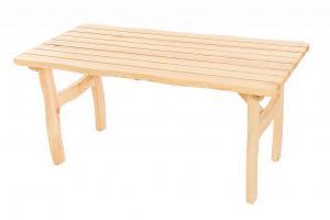 DEOKORK Masívny záhradný stôl z borovice VIKING (40 mm) - rôzne dĺžky 150 cm