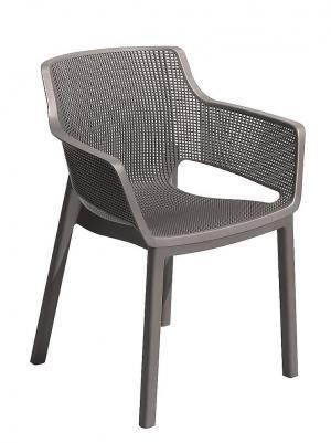 DEOKORK Záhradná plastová stolička MENORCA (cappuccino)
