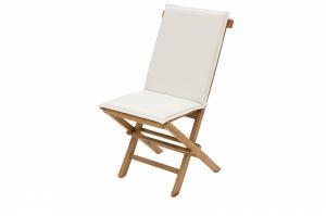 DEOKORK Záhradná skladacia stolička s poduškou FOXI (teak)