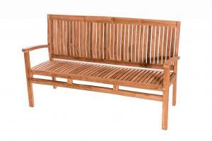 DEOKORK Záhradná teaková lavica HARMONY 120 cm