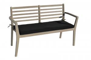 DEOKORK Záhradné lavica s poduškou CHESTERFIELD (sivá patina)