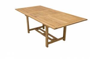 DEOKORK Záhradný obdĺžnikový stôl MONTANA 160/210 x 100 cm (teak)