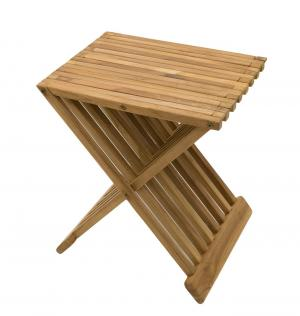DEOKORK Záhradný odkládací stolík FLOW (teak)