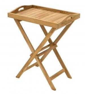 DEOKORK Záhradný odkládací stolík GAUDI (teak)