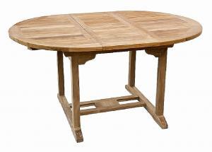 DEOKORK Záhradný oválný stôl SANTIAGO 120/170 cm (teak)