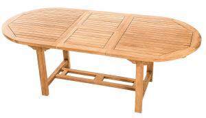 Deokork Záhradný oválný stôl SANTIAGO 160/210 x 100 cm (teak)