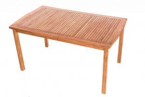 DEOKORK Záhradný pevný stôl obdĺžnik HARMONY 150x90 cm (teak)