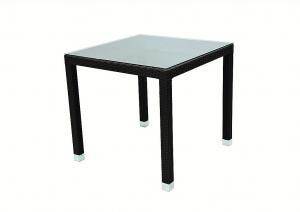 DEOKORK Záhradný ratanový stôl NAPOLI 80x80 cm (hnedá)