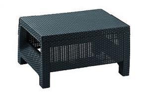 DEOKORK Záhradný ratanový stolík CORFU (antracit)