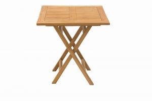 DEOKORK Záhradný skládací stôl ILLA 70x70 cm (teak)